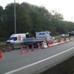 Travaux d'assainissement sur la chaussée dans le Nord Pas-de-Calais