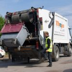 benne à ordures : ramassage de déchets