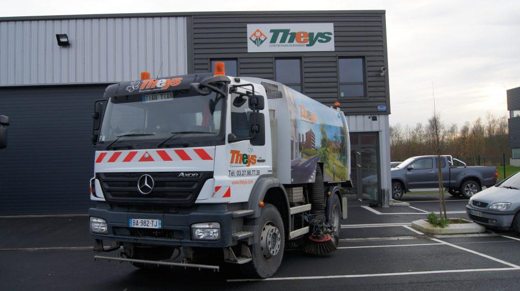 camion de nettoyage de voirie