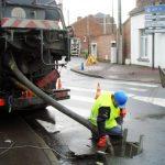 travail sur les réseaux et canalisations de Douai